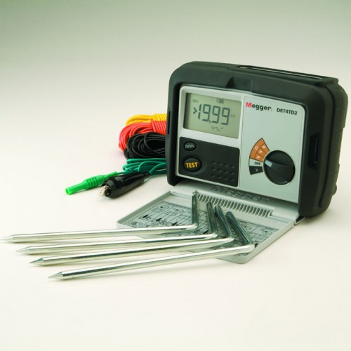 Ground Impedance Tester : Megger det td four terminal ground resistance test kit