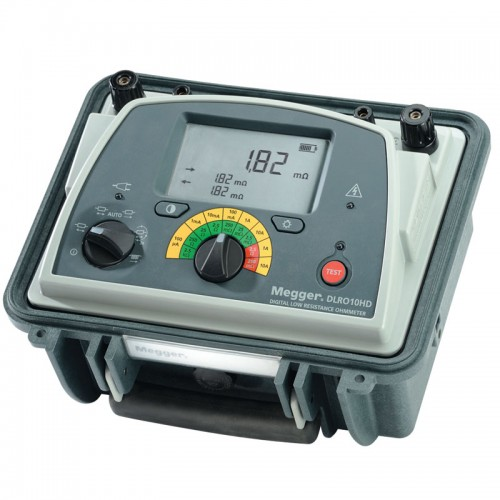 Megger DLRO10HD Digital Low Resistance Ohmmeter without test probes