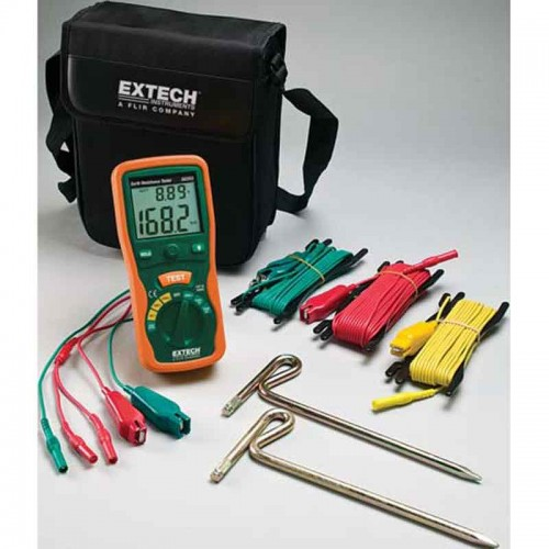 Extech Earth Resistance Tester : Extech earth ground resistance tester kit