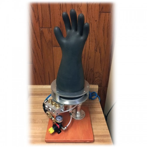 Testing High Voltage Rubber Gloves : Mitchell instrument class rubber insulated glove testing