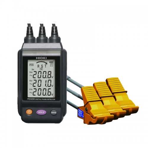 High Voltage Detector With Display : Hioki pd non contact phase detector with