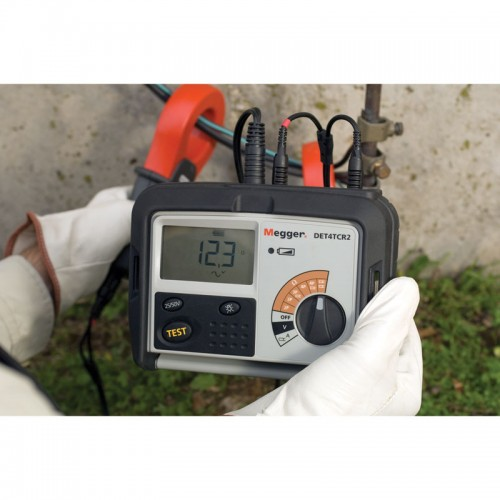 Ground Resistance Test : Megger det tcr ground resistance tester kit rechargeable