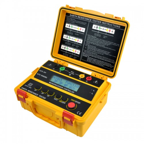 Ground Impedance Tester : Sew er basic four point earth ground resistance tester