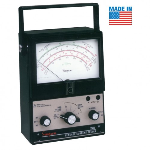 Mitchell Instrument Co Tester : Simpson analog ac dc leakage current tester mitchell