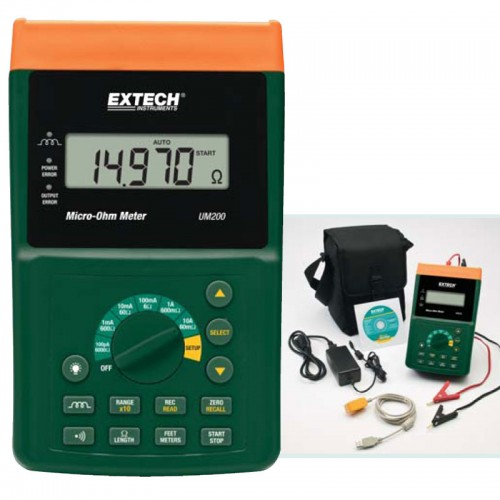 Ohmmeter Good Measurements And A High Low : Extech um high resolution micro ohm meter mitchell