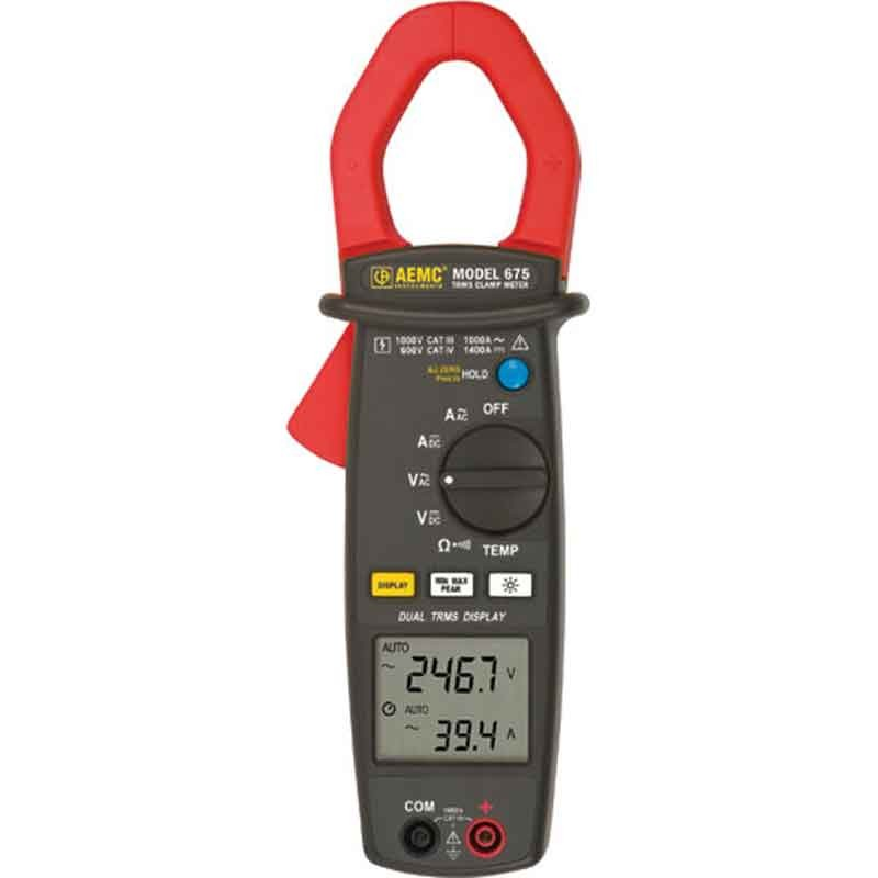 Clamp On Ammeter Dc : Aemc true rms dual display ac dc clamp on ammeter