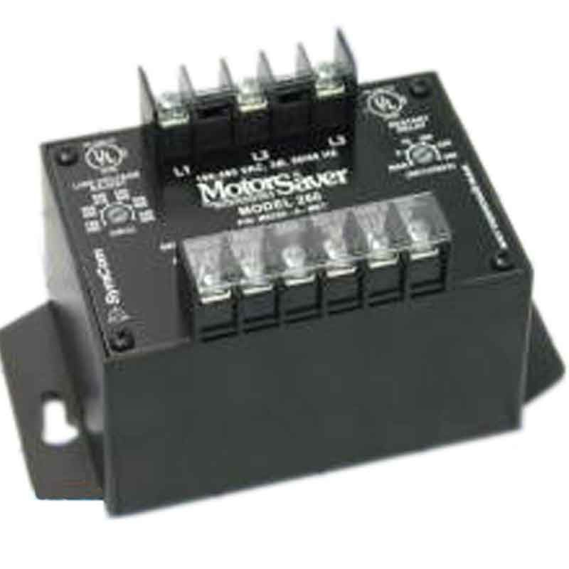 Symcom motor saver protection relay three phase voltage for 3 phase motor protection