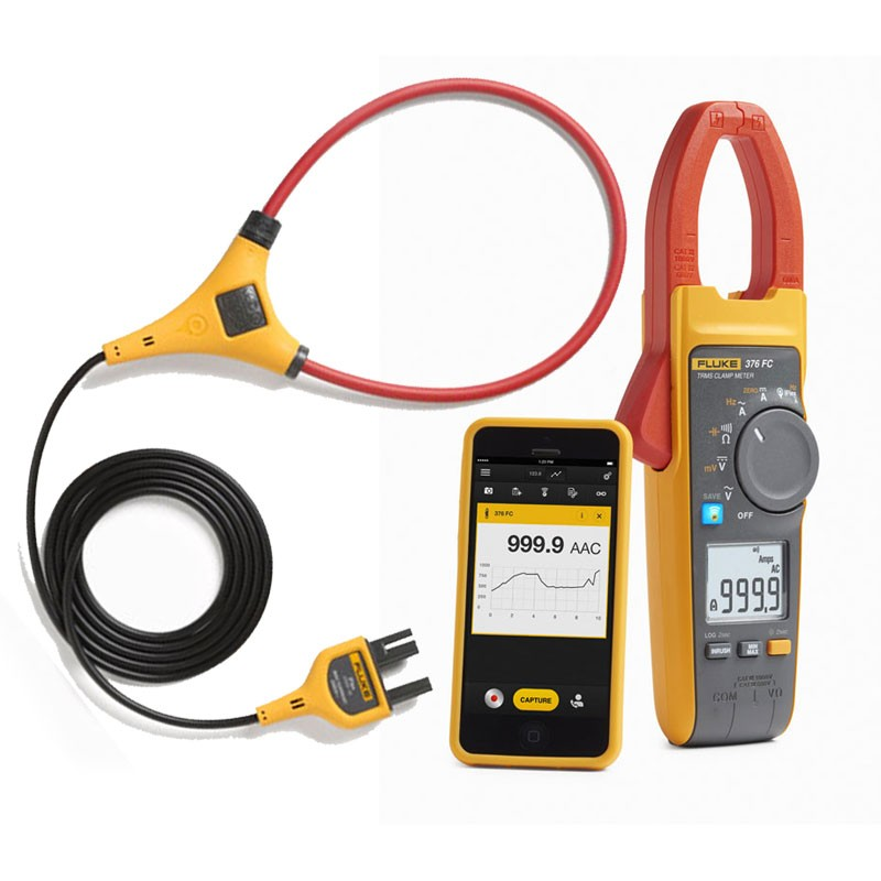 Clamp On Dc Current Probe : Fluke fc amp trms ac dc current clamp meter with