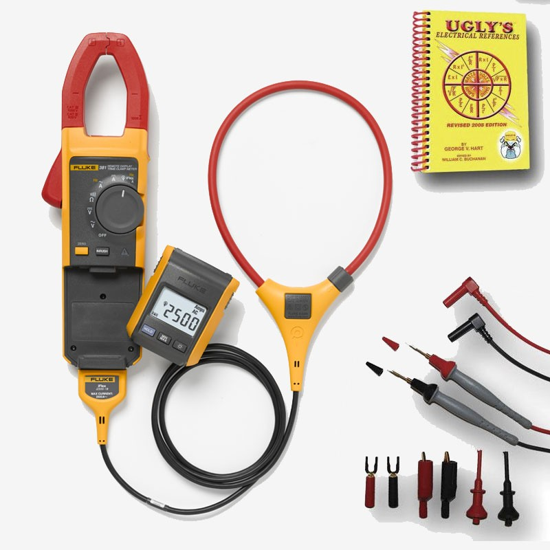Fluke Amp Clamp : Fluke value kit includes free deluxe test leads and