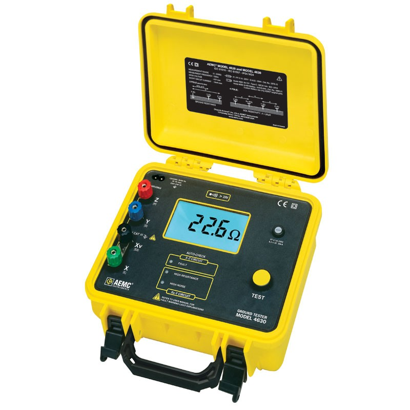 Ground Impedance Tester : Aemc four point ground resistance tester