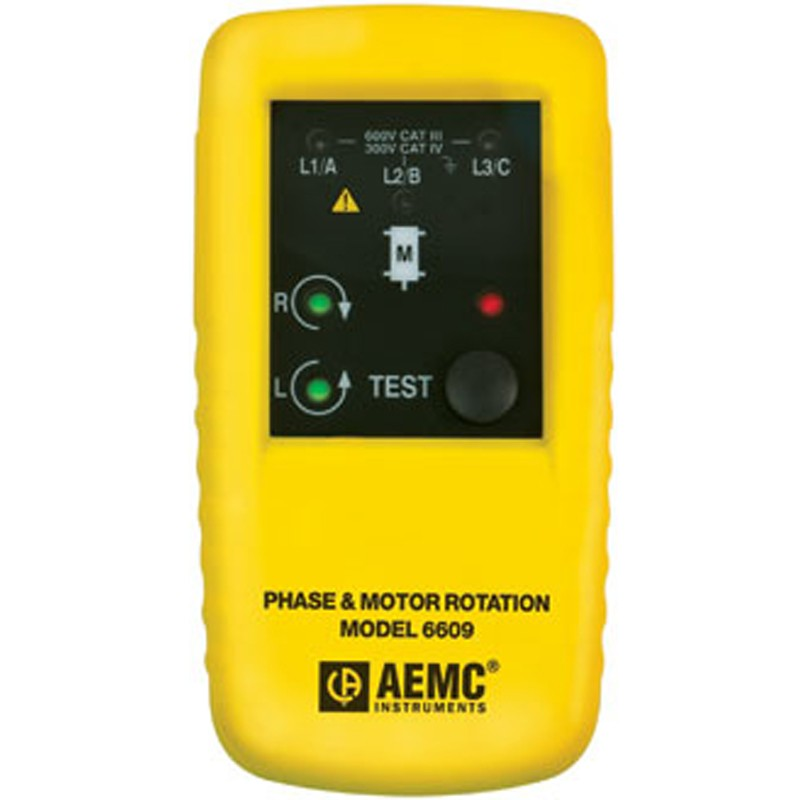 AEMC 6608 Phase Sequence Tester,40-850VAC