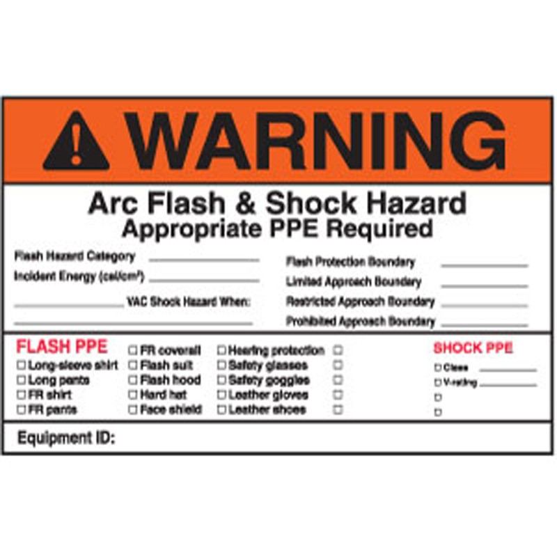 Arc flash protection mitchell instrument company for How to read arc flash labels