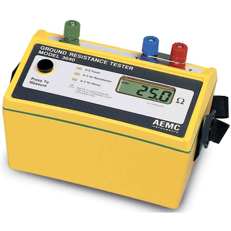 Ground Impedance Tester : Aemc earth resistance tester ground