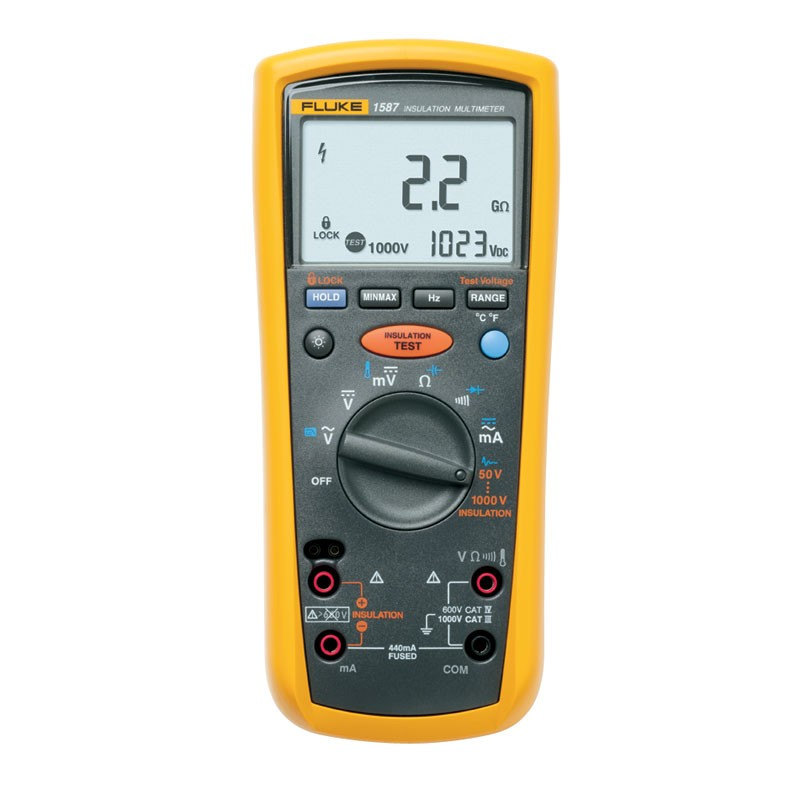 fluke 1587 t insulation multimeter for telecom applications rh mitchellinstrument com Fluke 1578 fluke 1587 fc insulation multimeter manual