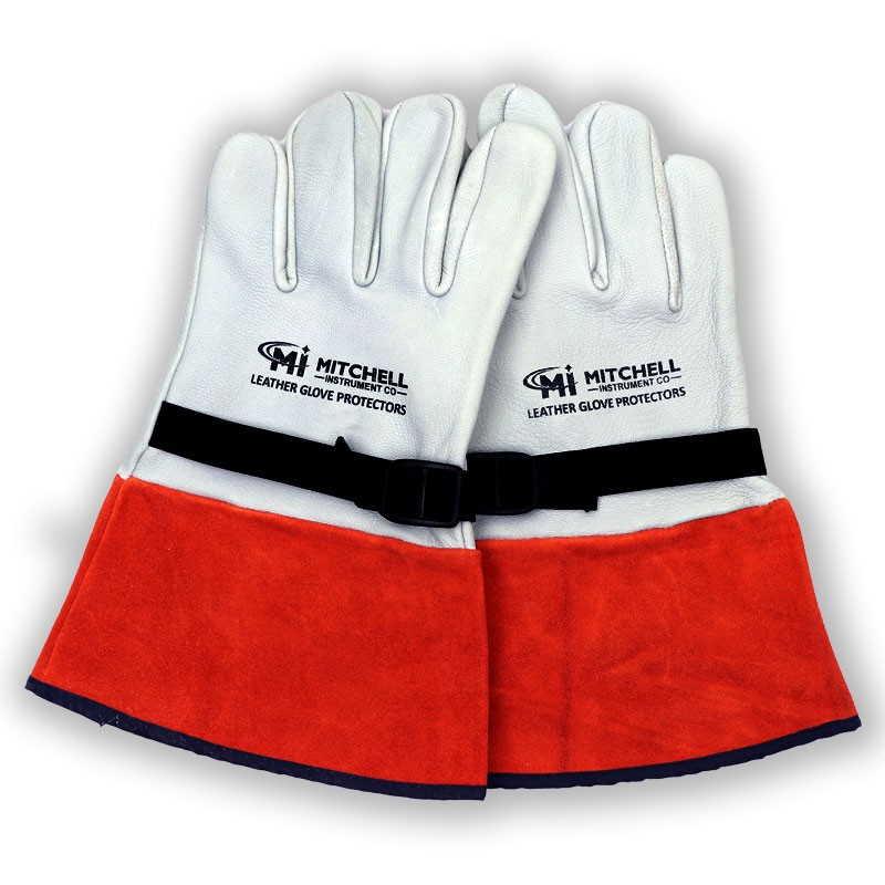 Mitchell Instrument 12 inch High Voltage Leather Glove Protectors (Size 11)