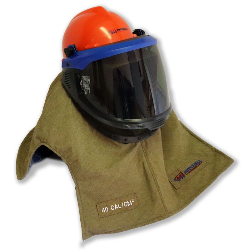 Mitchell Instrument 40 cal/cm2 Lift Front Hood - Super Light Weight Arc Flash Protection