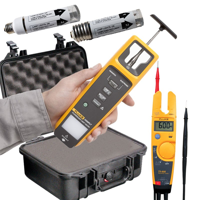 ... Fluorescent Light Tester. Fluke VT02 Visual IR Thermometer  sc 1 st  Mitchell Instrument Company & Premium Light Fixture Testing Value Kit - Featuring the Fluke ...