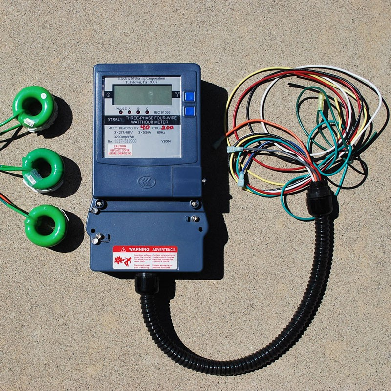 Three Phase KWH Meter Prewired Digital LCD Display