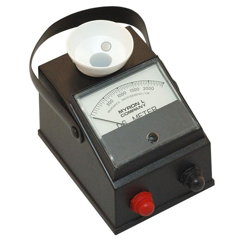 Myron L Conductivity Meter : Myron l m ds conductivity meter µs mitchell