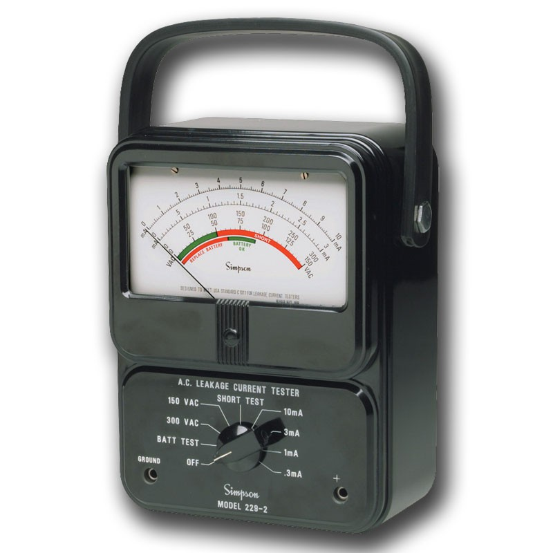 Simpson Electric Ac High Voltage Probe : Simpson ac leakage current tester mitchell