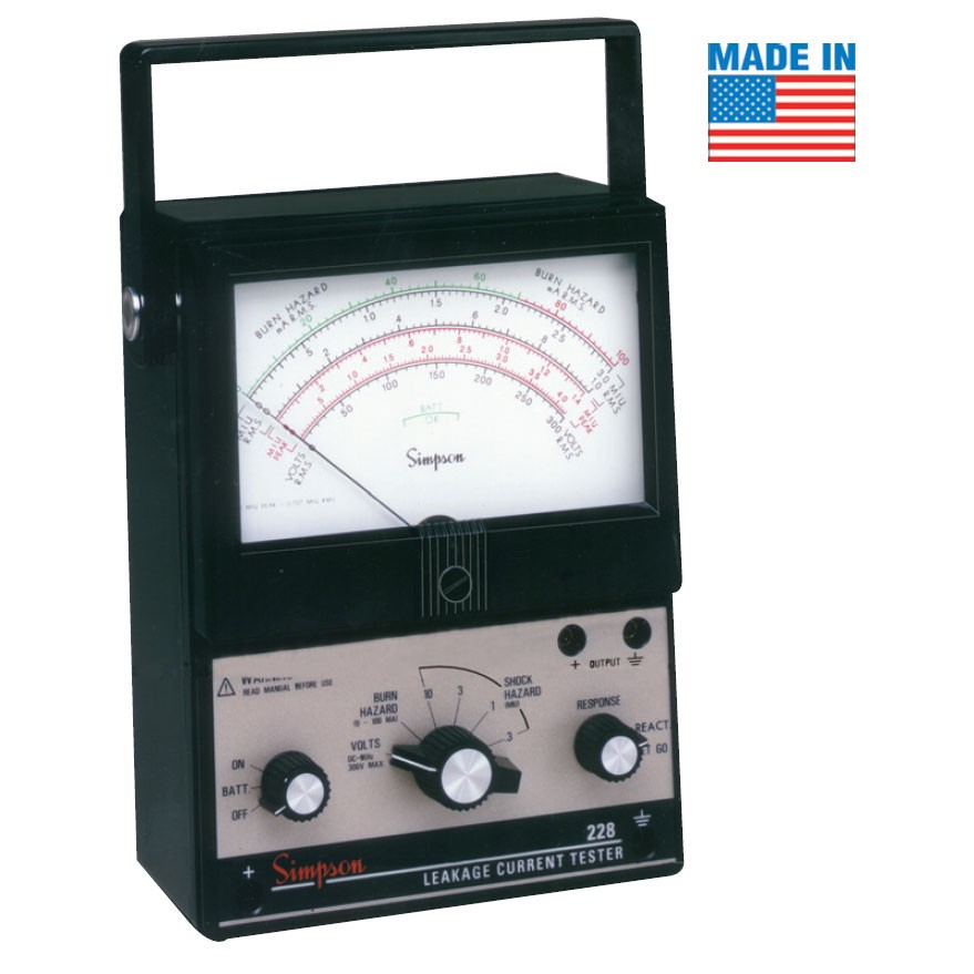 Simpson Electric Ac High Voltage Probe : Simpson analog ac dc leakage current tester mitchell