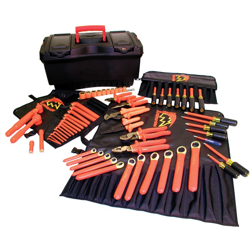 High Voltage Insulated Tools : Salisbury tk insulated tool kit piece hot box