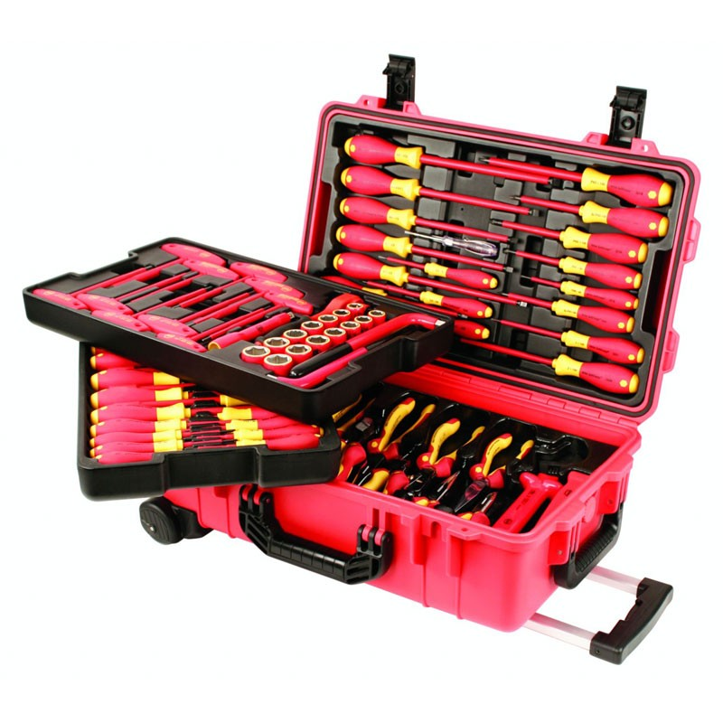 High Voltage Tools : Wiha tools insulated piece electrician tool set