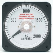 """0-1A Range Current 4.5"""" Square Panel Meter (different scale than shown)"""