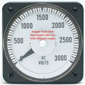"AC Voltmeter 0-150V Range (different than image) 8.75"" Square"