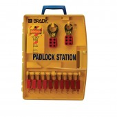 Padlock Station with 10 Safety Padlocks #105930