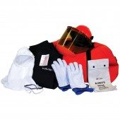 Mitchell Instrument 12 Cal Electrical Arc Flash Clothing Kit with Flash Coat, Bib Overalls and Class 0 Glove Kit