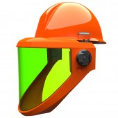 Salisbury AS1200HAT-PPC 12 cal/cm2 Arc Flash Protection Face Shield Unit with Hard Hat