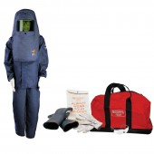 15 Cal Arc Flash Protection Coverall Kit with Class 2 Glove Kit