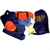 Mitchell Instrument 20 Cal Electrical Arc Flash Protection Kit With Coat and Bib Overalls and Class 2 Glove Kit
