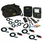 AEMC PowerPad III Model 8336 Advanced Power Quality Analyzer Low Current Kit - with four 240 amp clamp on current probes