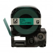 K-Sun LabelShop Black on Green 3/4 inch