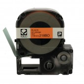 K-Sun LabelShop Black on Orange 3/4 inch