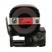 K-Sun LabelShop Black on Red 3/4 inch