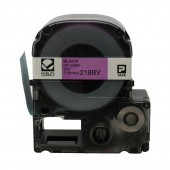K-Sun LabelShop Black on Violet 3/4 inch