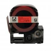K-Sun LabelShop Black on Fluorescent Red 3/4 inch