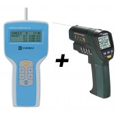 Kanomax 3887 handheld laser particle counter plus IR Thermometer Value Kit