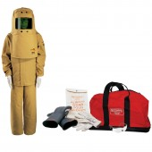 65 Cal Arc Flash Protection Coverall Kit with Class 2 Glove Kit