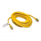 Allegro 9540-50 50' Standard Extension Cord, 125V, Yellow