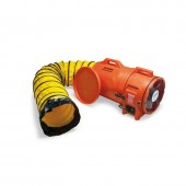 """Allegro 9543-25 12"""" Axial AC Plastic Blower w/ Canister & 25' Ducting"""