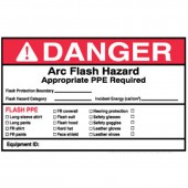 "4"" x 6"" Write-On Arc Flash Labels (Danger) Qty 5"