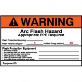 Brady 99488 Arc Flash Protection Warning Label 4 x 6 5 Pack
