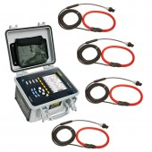 AEMC PowerPad III Model 8435 Three Phase Weather Proof Power Quality Analyzer Flexible Probe Kit