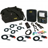 AEMC PowerPad III Model 8333 Low Current Kit - with three 100 amp small clamps (2136.12)