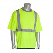 Hi-Vis Class 2 Short Sleeve Insect Repellent Shirt With Reflective Trim