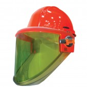 Salisbury AS1200HAT-CLR-PPC 12 cal/cm2 Arc Flash Protection Face Shield Unit with Hard Hat and Clear Chin Guard